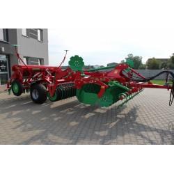 Zestaw uprawowo-siewny Agro-Tom Agregat talerzowy AT XL + Wózek ze sprzęgiem do siewnika + Siewnik PSR